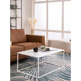 Stolik kawowy z metalu (biały) 90x60