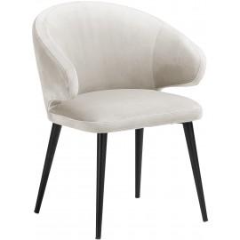 Krzesło z aksamitu Beż