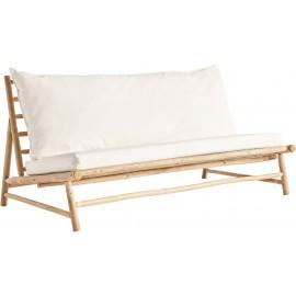 Sofa ogrodowa z drewna bambusowego