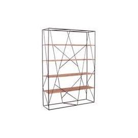 Regał Industrialny Drewno+Metal