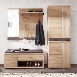 Przedpokój Garderoba Drewno Dąb 4 Części