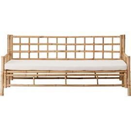 Sofa trzyosobowa z drewna bambusowego 180x70