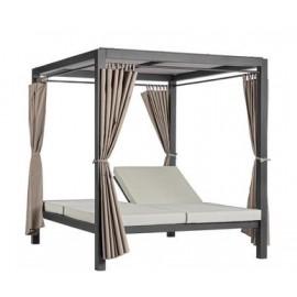 Łóżko ogrodowe z baldachimem 188x205 Bizzotto