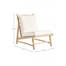 Fotel wypoczynkowy z drewna bambusowego 55x87
