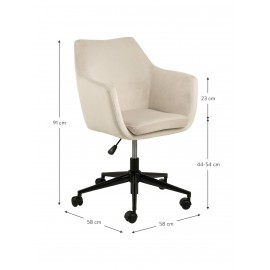 Biurowe krzesło obrotowe Aksamit 58x58