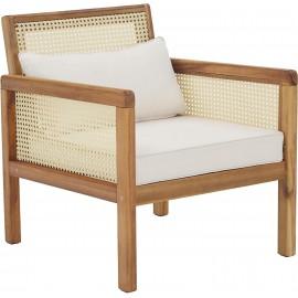 Fotel ogrodowy z plecionką wiedeńską 68x78