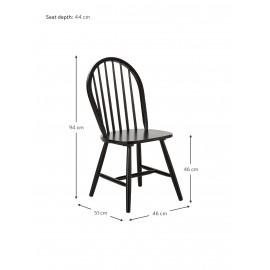 Krzesło z drewna, 2 szt.