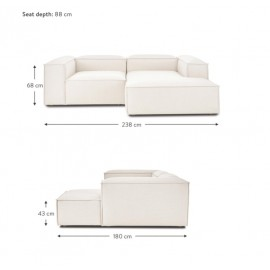 Narożna sofa 3 os 238x180