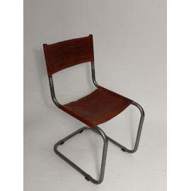 Krzesła Zestaw skóra + metal 4 szt
